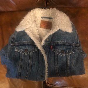 Authentic Sherpa trucker jacket